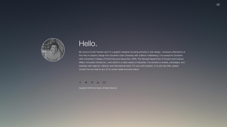 Kurtis Hansens Bio Page